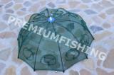 Halau  Crâsnic Varsa tip umbrela pentru raci si baboi cu 10 intrari 90 x 90 cm