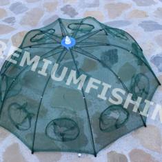 Halau  Crâsnic Varsa tip umbrela pentru raci si baboi cu 8 intrari 90 x 90 cm