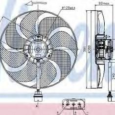 Ventilator, radiator SKODA FABIA 1.2 12V - NISSENS 85690