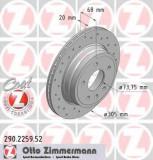Disc frana JAGUAR XJSC Convertible 4.0 - ZIMMERMANN 290.2259.52