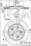 Disc frana JAGUAR S-TYPE limuzina 3.0 V6 - BREMBO 09.7911.10