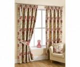 Set 2 draperii Lily Red 112x229 cm