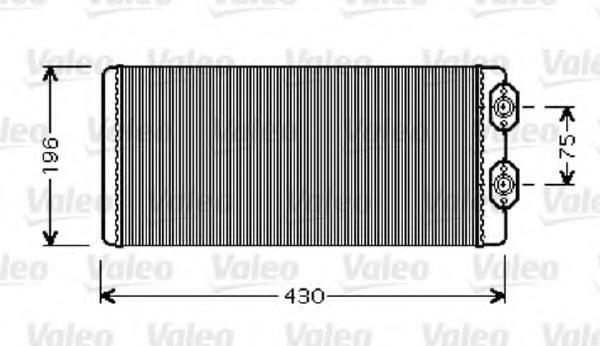 Schimbator caldura, incalzire habitaclu VOLVO FH 12 FH 12/340 - VALEO 812343