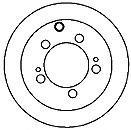Disc frana MITSUBISHI PAJERO IO GDI - MAPCO 25544