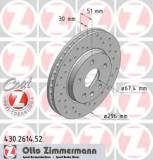 Disc frana SAAB 9-5 2.0 TTiD XWD - ZIMMERMANN 430.2614.52