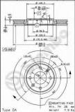 Disc frana CITROËN XANTIA 3.0 i 24V - BREMBO 09.7877.10
