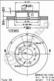 Disc frana FIAT DUCATO caroserie 140 Natural Power - BREMBO 09.8932.10