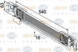 Radiator ulei, ulei motor VW PASSAT Variant 2.0 TDI - BEHR HELLA SERVICE 8MO 376 747-131