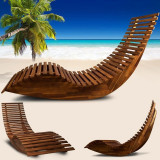 Sezlong/balansoar lemn pentru plaja, ID1047
