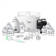 Set Sterilizator electric cu abur Tommee Tippee cu Sterilizator calatorie, 8 biberoane, 6 duze, perie, cleste, suzeta ID773