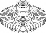 Cupla, ventilator radiator FORD TRANSIT bus 2.4 DI - TOPRAN 302 007