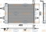 Condensator, climatizare SKODA FABIA 1.4 16V - HELLA 8FC 351 301-531
