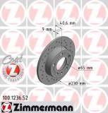 Disc frana AUDI A3 1.6 - ZIMMERMANN 100.1236.52