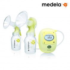 Pompa de san Medela Freestyle dubla, Electrica bifazica, Set calatorie+Calma ID595