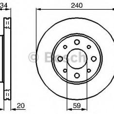 Disc frana FIAT PALIO 1.0 Flex - BOSCH 0 986 479 B76