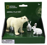 Set 3 figurine - Urs si iepure polar, National Geographic