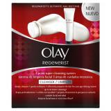 Set perie de curatare faciala Olay Regenerist 2 viteze si crema exfoliere ID139