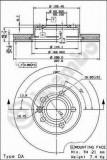 Disc frana VW SHARAN 1.9 TDI - BREMBO 09.6934.14