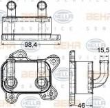 Radiator ulei, ulei motor OPEL ASTRA G hatchback 1.7 DTI 16V - HELLA 8MO 376 780-601