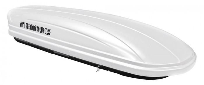 Cutie portbagaj Menabo Mania 400 ABS White, 165x79x37