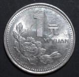 China 1 yuan 1998 aUNC, Asia
