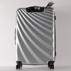 Troler extensibil Viviana 75 cm, ABS, 4 roti duble, cifru compatibil TSA,104 litri, argintiu ID1021