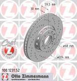 Disc frana AUDI 100 limuzina S4 Turbo quattro - ZIMMERMANN 100.1231.52