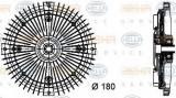 Cupla, ventilator radiator MERCEDES-BENZ T1 caroserie 210 D 2.8 - BEHR HELLA SERVICE 8MV 376 732-481