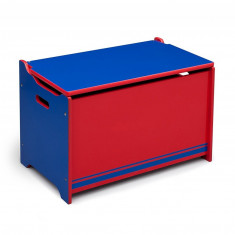 Ladita din lemn depozitare jucarii Delta Children, albastru cu rosu, ID310