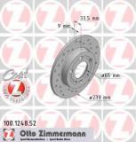Disc frana VW GOLF Mk IV 1.9 TDI 4motion - ZIMMERMANN 100.1248.52