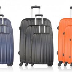 Set 3 valiza tip troler Potiron Paris 75cm Negru ID544
