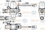 Supapa control, agent frigorific RENAULT TRUCKS Magnum AE 385ti.18 - HELLA 9XL 351 328-381