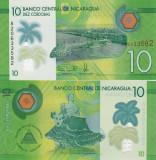 NICARAGUA 10 cordobas 2014 (2015) polymer UNC!!!
