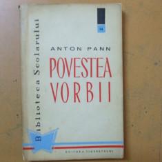 Povestea vorbii Anton Pann Bucuresti 1960