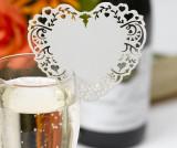 Set 10 marcatoare pentru pahare Vintage Romance