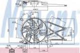 Ventilator, radiator OPEL ASTRA G hatchback 2.0 16V - NISSENS 85179