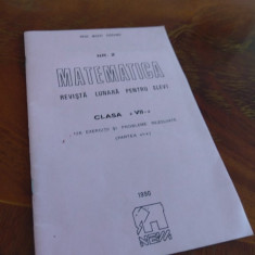 Mihai Ciobanu - Matematica Revista lunara pentru Elevi nr 2 Clasa A VII-a 1990, Clasa 7