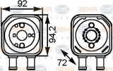 Radiator ulei, ulei motor VW SHARAN 1.9 TDI - HELLA 8MO 376 778-041