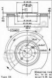 Disc frana CITROËN XANTIA 2.0 i - BREMBO 09.5730.10