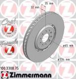 Disc frana VW GOLF Mk IV 3.2 R32 4motion - ZIMMERMANN 100.3308.75
