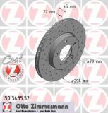 Disc frana MINI MINI COUNTRYMAN Cooper S ALL4 - ZIMMERMANN 150.3485.52