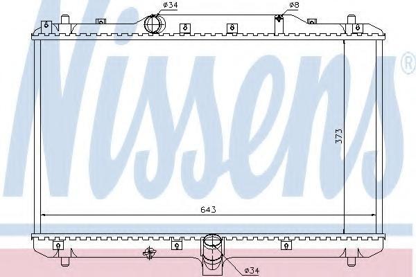 Radiator, racire motor FIAT SEDICI 1.9 D Multijet 4x4 - NISSENS 64198