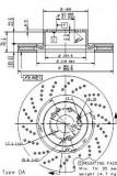 Disc frana MERCEDES-BENZ S-CLASS limuzina S 63 AMG - BREMBO 09.9463.10