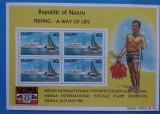 NAURU-1981=Expo-WIPA=-Vapoare ,pescuit  Colita- -MNH, Stampilat