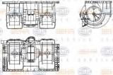 Ventilator, habitaclu VOLVO FH 12 FH 12/340 - BEHR HELLA SERVICE 8EW 351 336-141