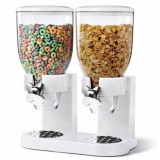 Dispenser cereale dublu 3,5 litri x 2, Alb ID612