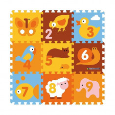 Covor puzzle din spuma Animals 9 piese, Knorrtoys