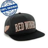 Sapca '47 Detroit Red Wings - originala - flat brim - snapback - oficiala NHL, Marime universala, Negru