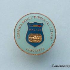 """Insigna Pin Marina Militara - ACADEMIA  NAVALA """"MIRCEA  CEL  BATRAN""""  CONSTANTA"""