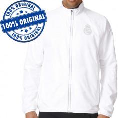Bluza Adidas Real Madrid pentru barbati - jacheta originala, M, S, XL, Cu fermoar, Poliester